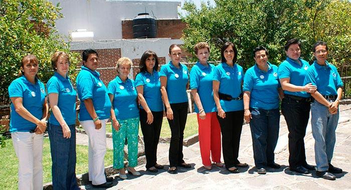 El personal administrativo de la Fundación Taboada.